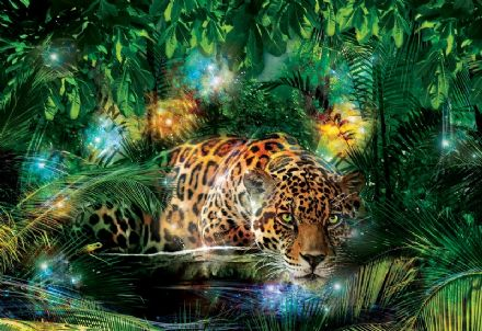 Jaguar in the Jungle wall mural wallpaper